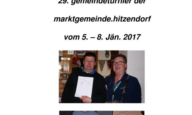 29. Turnier der Marktgemeinde Hitzendorf 5.-8.1.2017